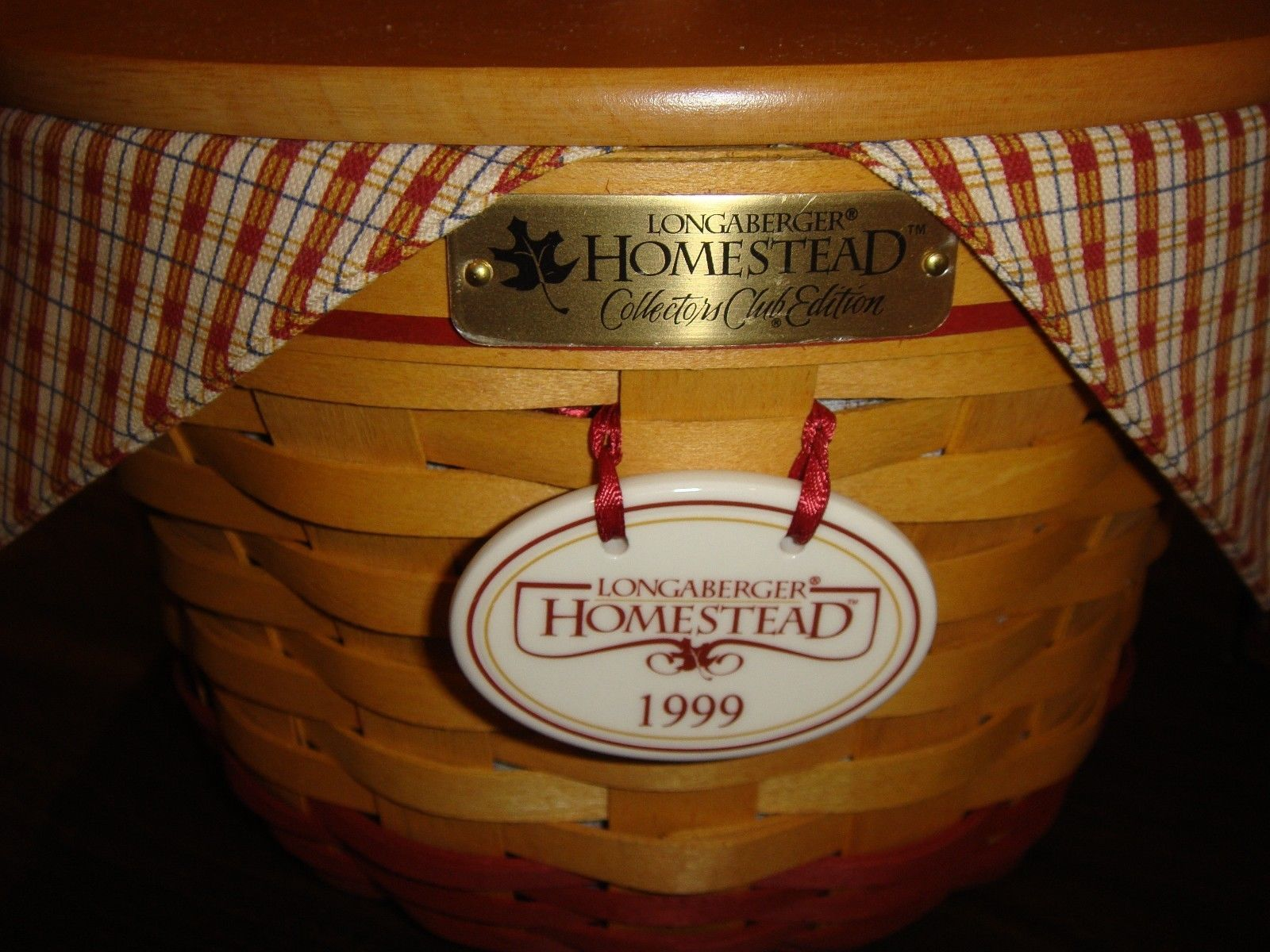 Longaberger 1999 Collectors Club Homestead Basket Combo
