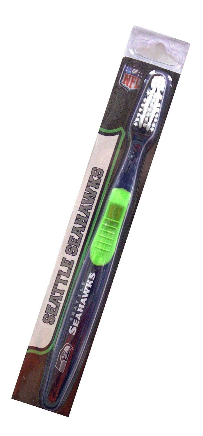SEATTLE SEAHAWKS TEAM LOGO FULL SIZE TOOTHBRUSH NFL FOOTBALL