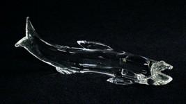 Steuben Glass Salmon Sculpture Fish James Houston - $855.00