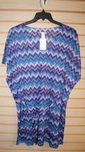 NEW H&M WOMENS SIZE LARGE L BLUE PURPLE CHEVRON PATTERN SWIM SUIT COVER ... - $9.74