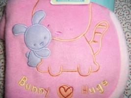 Carter's Pink Bunny Hugs Receiving Stroller Cri... - $18.80