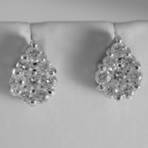BEAUTIFUL SOLID 18K WHITE GOLD DROP EARRINGS WITH DIAMOND DIAMONDS 1.90 CARATS