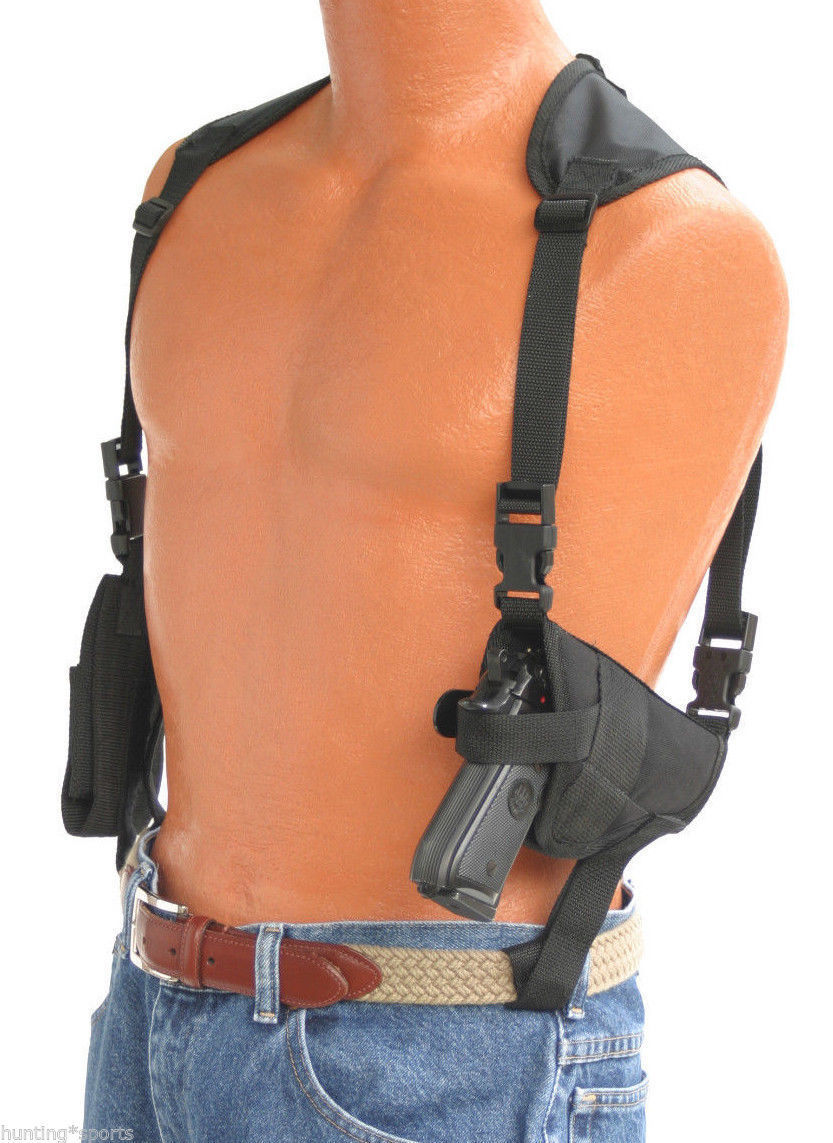 Pro-Tech Shoulder Holster with Double Magazine holder For Ruger P-85,P-89,P-90 for sale  USA