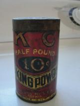 KC Baking Powder tin, advertising, old Jacques Mfg, Chicago - $30.50