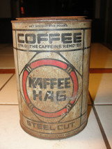 Kaffee Hag, old coffee can, tin, advertising, s... - $75.91