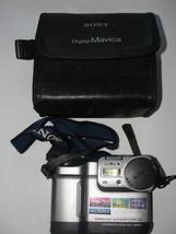 SONY Digital Mavica,Still Camera,MVC-FD83,WITH CASE&STRAP,WORKS ,NEED BA... - $91.20