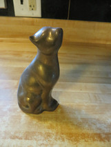 solid brass or bronze,statue of cat or kittty artwork  desk paperweight - $28.45