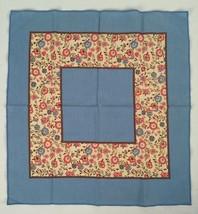 Pansy Floral Blue Pink 19 in Square Set 4 Vtg Cloth Napkins - $11.69