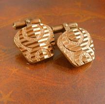 Rose gold cufflinks Spider Design Cuff links  Wedding Etched diamond cut... - $110.00