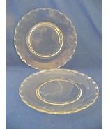"""12 Pcs Fostoria Century Elegant Glass 8.5"""" Dessert  or Salad Plates Clea... - $39.95"""