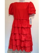 Mayvens California Womens Red peasant layered Dress Size 11 - $28.04