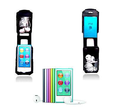 Ipod Nano Leather Holster Carry Swivel Belt Clip Case I-pod cover Music holder