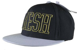 Neff Fresh Adjustable Black Yellow Snapback Hat Cap