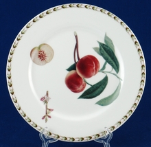 Queen's Hookers Fruit Peach Salad/Dessert Plate Fine China Made in India - $8.00