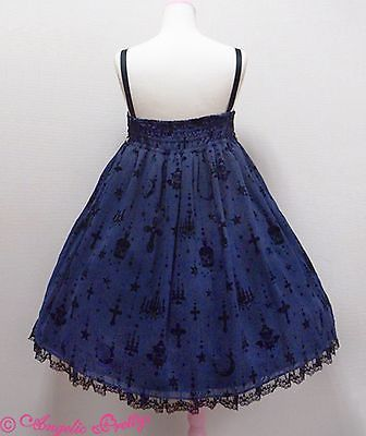 Angelic Pretty Holy Lantern High Waist Jumperskirt Dress in Navy Lolita Fashion image 4