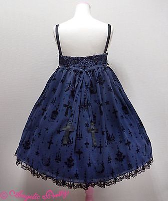 Angelic Pretty Holy Lantern High Waist Jumperskirt Dress in Navy Lolita Fashion image 3
