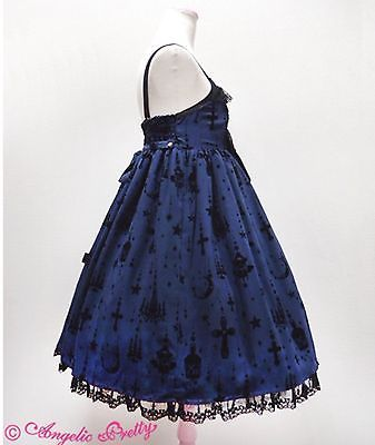 Angelic Pretty Holy Lantern High Waist Jumperskirt Dress in Navy Lolita Fashion image 2