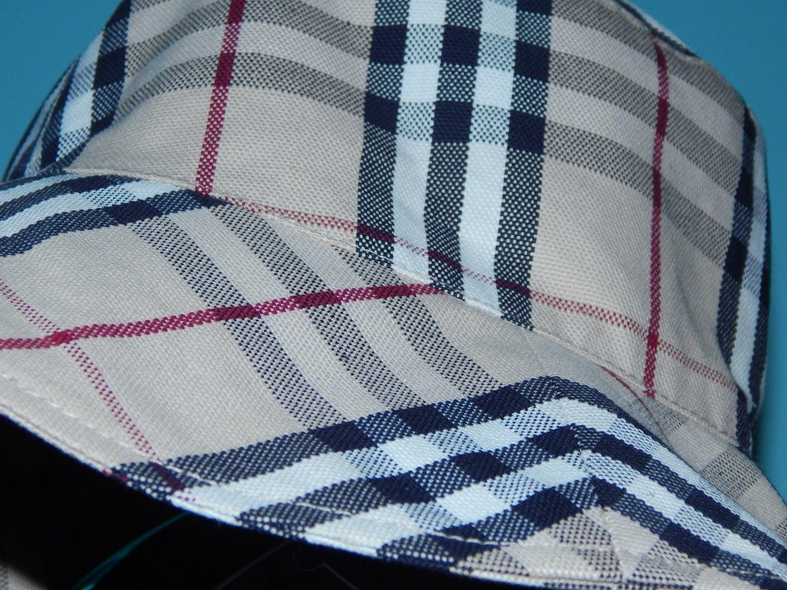 2e8d57f38fd8e Genuine BURBERRY LONDON Nova Check Hat. Wide Brim Floppy Cotton. Size M.  Rare