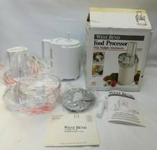 Vintage West Bend Food Processor #41020Original Box & Manual New Open Box - $54.44