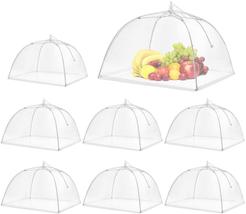 Pop-Up Mesh Screen Food Cover Tent Umbrella, SPANLA 8 Pack Food Cover Ne... - $20.86