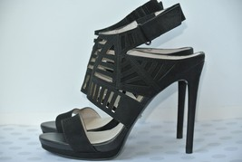 Kenneth Cole New York Womens 8 M Black Leather Cut Out Ankle Strap Heels NICE!! - $34.64