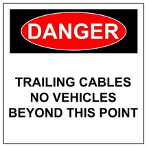 Danger Trailing Cables Signs, Aluminum Metal Safety Warning UV Print Haz... - $47.95+