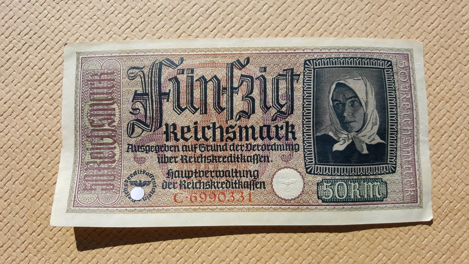 P-66 Banknotes 1919 A-UNC Original Germany 50 Mark