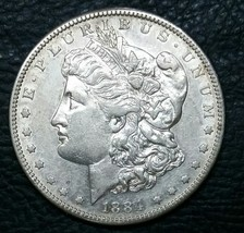 1884S $1 Morgan Silver Dollar Coin Lot # MZ 4671