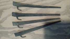 Tent Stakes -- set of four heavy gauge steel for camping tents / dining ... - $8.99