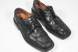 Alfani Mens Oxford Leather Dress Shoes Size 10 1/2 Black - $28.02