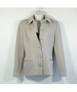 Vintage Womens Carlisle Tan Brown Winter Button Up Jacket Blazer Size 6 - $41.80
