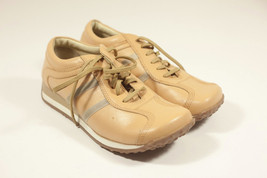Bubbbles Steve Madden Woman's casual lace up leather tan shoes 7 1/2 (t9) - $23.75