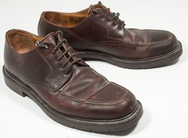 Johnston & Murphy Leather Brown Shoes Oxfords Mens Sz 9 M Made In Italy - $33.25
