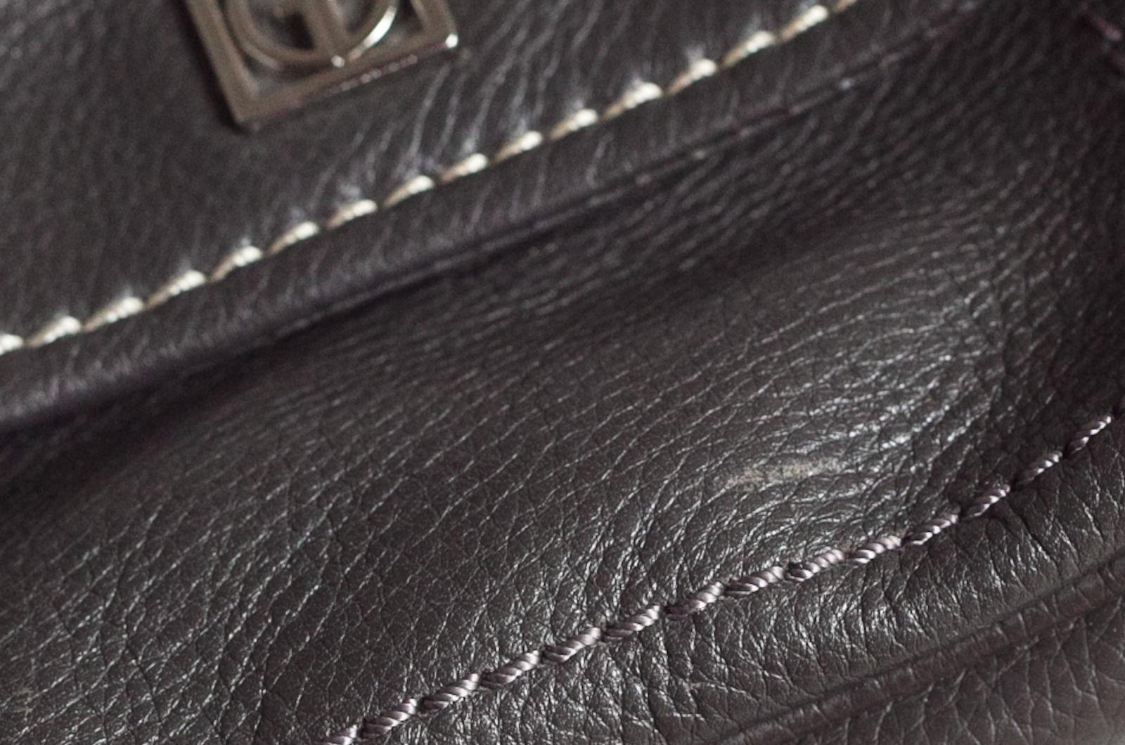 Giani Bernini Womens Small Soft Grey Leather Purse Shoulder Strap