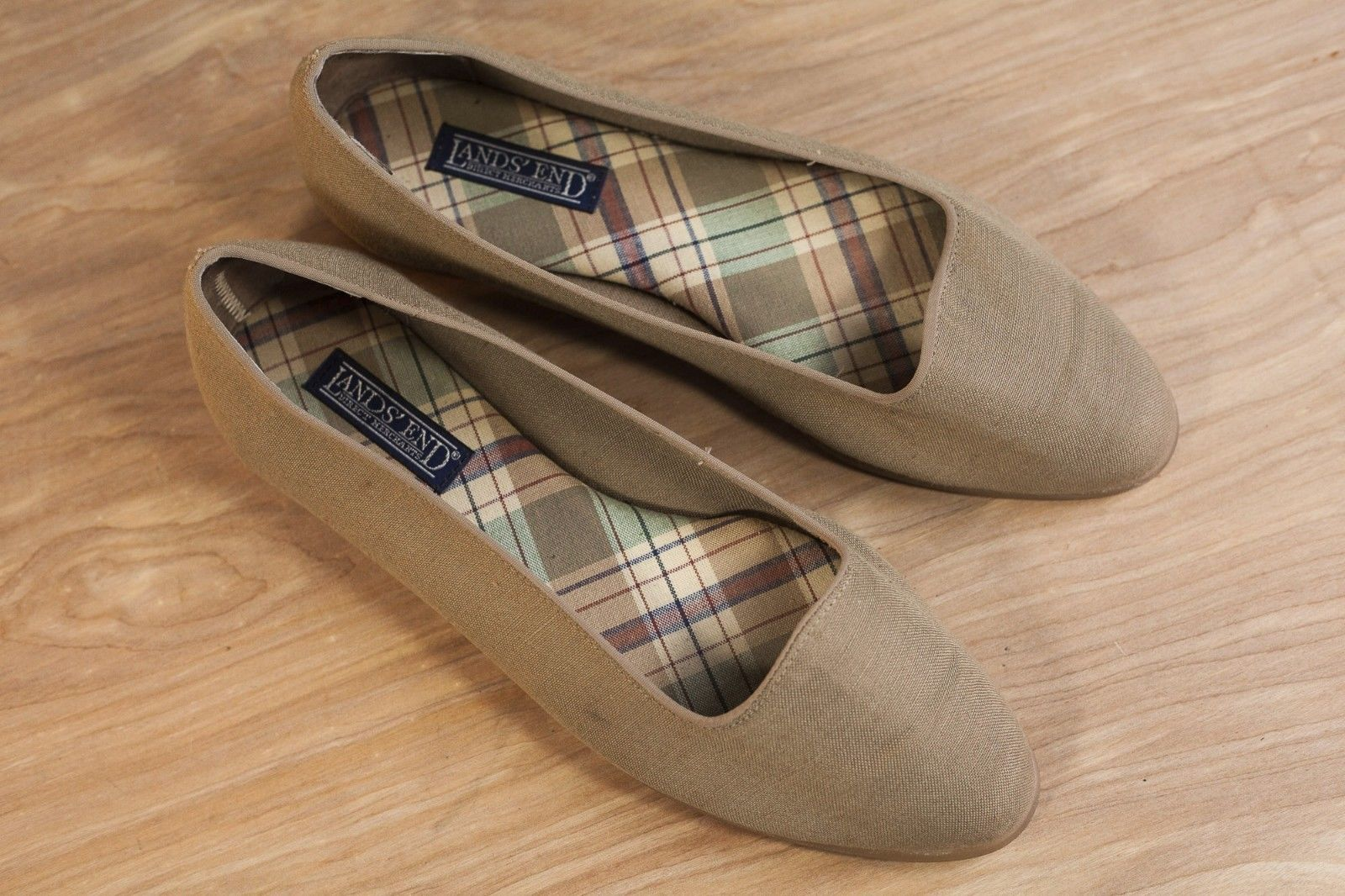 194d08190340 Vintage Lands' End Olive Canvas Womens Flats and 50 similar items. S l1600