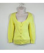 American Eagle cardigan sweater Size M neon yellow sweater long sleeve - $37.00