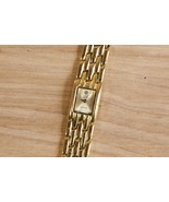 Professionally Appraised Anne Klein Diamond Gold Color Womens Watch Need... - $90.25