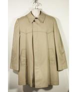 London Fog Tan Beige Rain Coat Overcoat Mens Size 42 Reg - $37.52