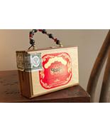 Vintage wood Cigar Box Purse Hicaragua Handmade La Finca (t13) - $34.20