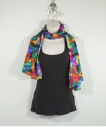 """Vintage Bright Colored Scarf 22"""" Wide 54"""" Long - $33.25"""