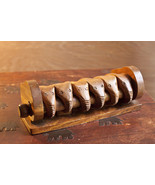 Set of 6 Hand carved wood Elephant Napkin Holder Rings from Phillipines - $29.45