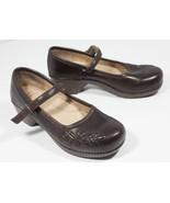 Dansko Savanna 9.5 41 Brown Mary Jane Clogs Womens Shoes - $133.00