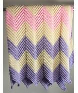 50 inch by 47 inch Pastel Chevron Afghan Throw Lap Blanket - $32.78