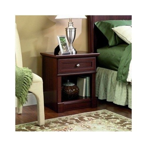Nightstand Bedside End Table Bedroom Furniture Wood Night Stand Cabinet Cherry