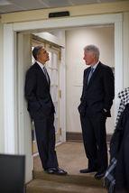 Barack Obama Bill Clinton President TKK 8X10 Color Political Memorabilia... - $6.99