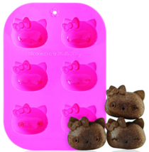 Siliconezone - Hello Kitty Silicone 6 - Cup Muffin Mold - $249,51 MXN