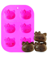Siliconezone - Hello Kitty Silicone 6 - Cup Muffin Mold - £9.75 GBP