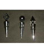 Bottle Stoppers Three Stainless Deco   - $19.99