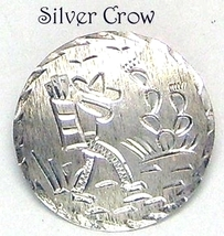Sterling Silver Mexican Motif Pin Man with Sombrero and Cactus - $20.99