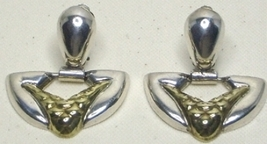 Vintage Taxco Sterling Silver & Vermeil Earrings - $57.99